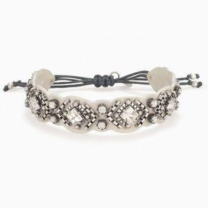 6b6209e02fe Stella   Dot Jewelry - Stella   Dot Chiara White Leather Bracelet 😍
